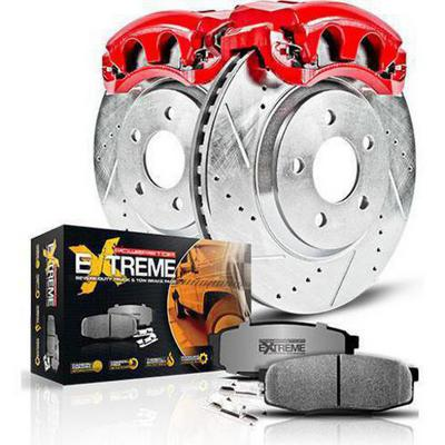 Power Stop Z36 Extreme Performance Truck & Tow 1-Click Front and Rear Brake Kit with Calipers - KC1892-36