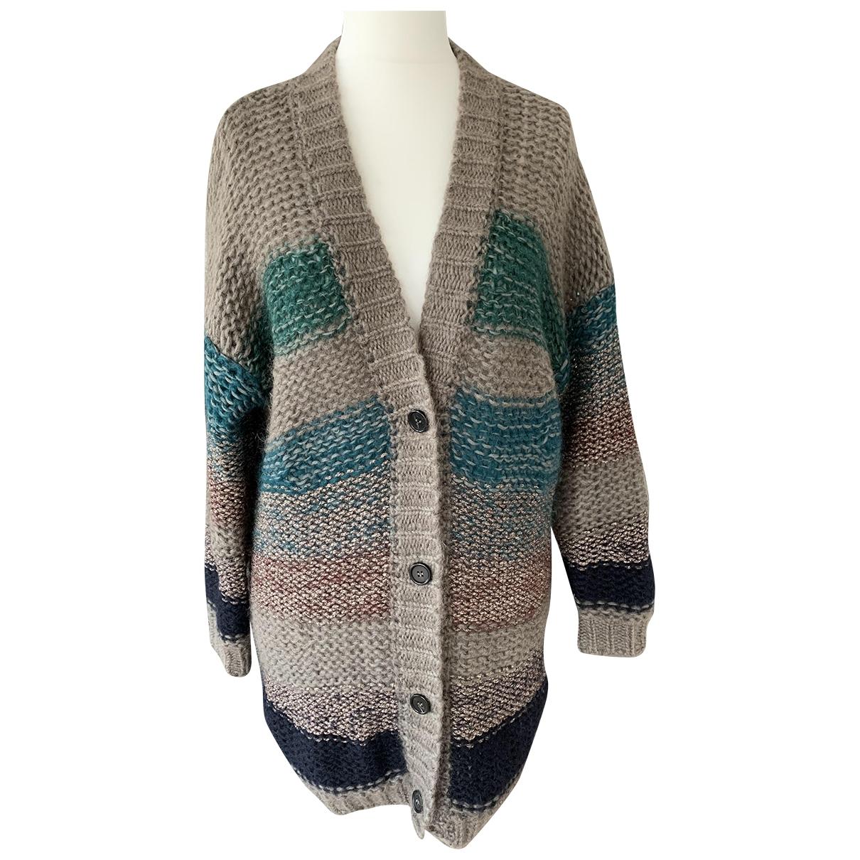 Roberto Collina - Pull   pour femme en laine - multicolore