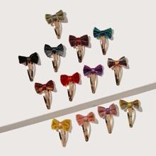 13pcs Girls Bow Knot Decor Hair Clip