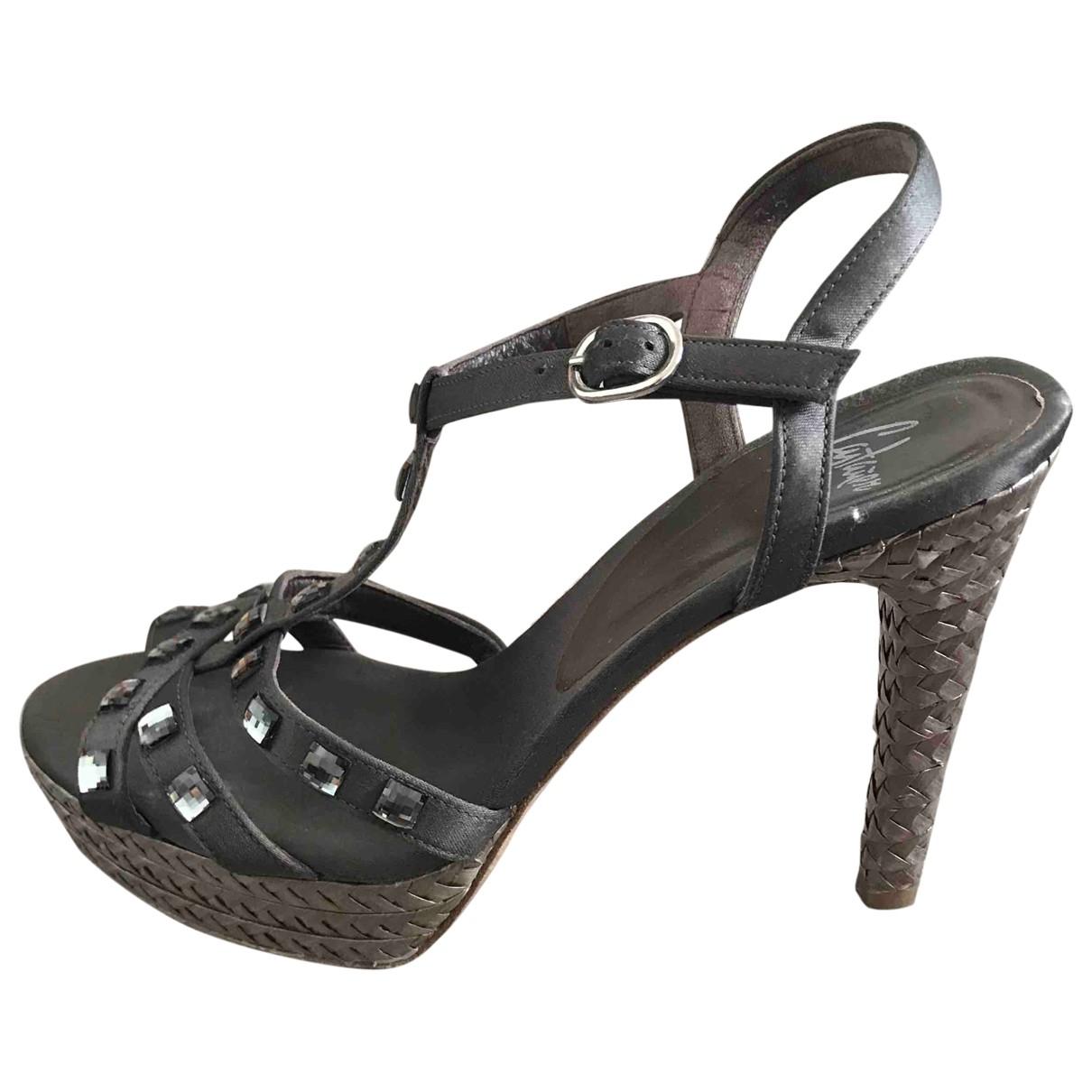 Castaner - Sandales   pour femme en cuir - gris