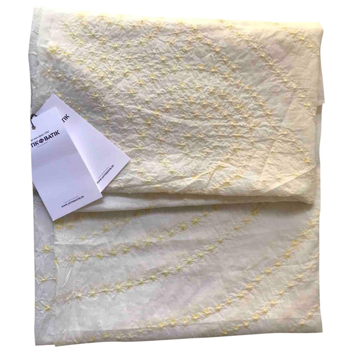 Antik Batik \N Badeanzug in  Weiss Baumwolle
