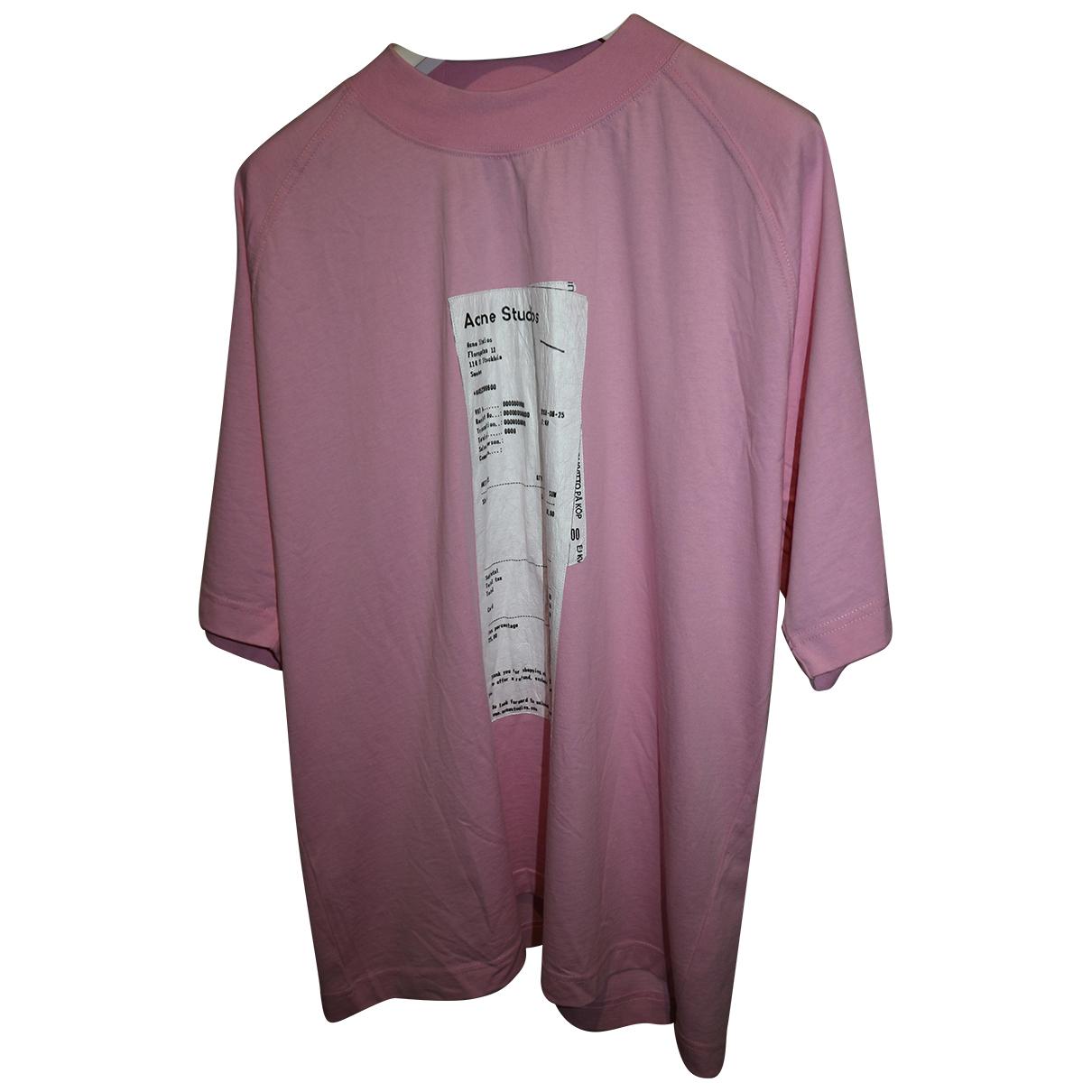 Acne Studios Blå Konst Pink Cotton  top for Women M International