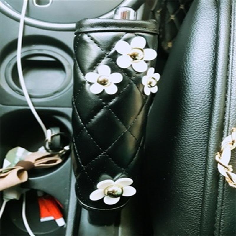 Practical Little White Daisy Design Lovely Hand Brake Cover