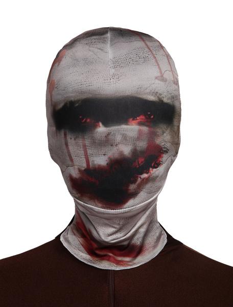 Milanoo Disfraz Halloween Mascara de lycra spandex de zombi Halloween