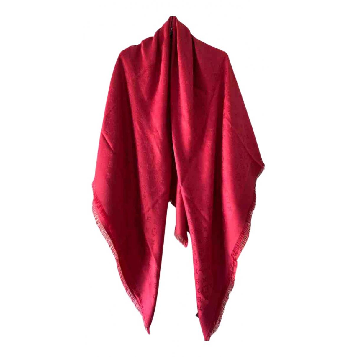Louis Vuitton Châle Monogram shine Red Silk scarf for Women \N