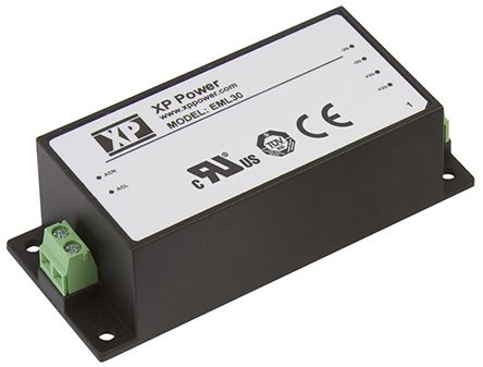 XP Power , 30W AC-DC Converter, 24V dc, Encapsulated, Medical Approved
