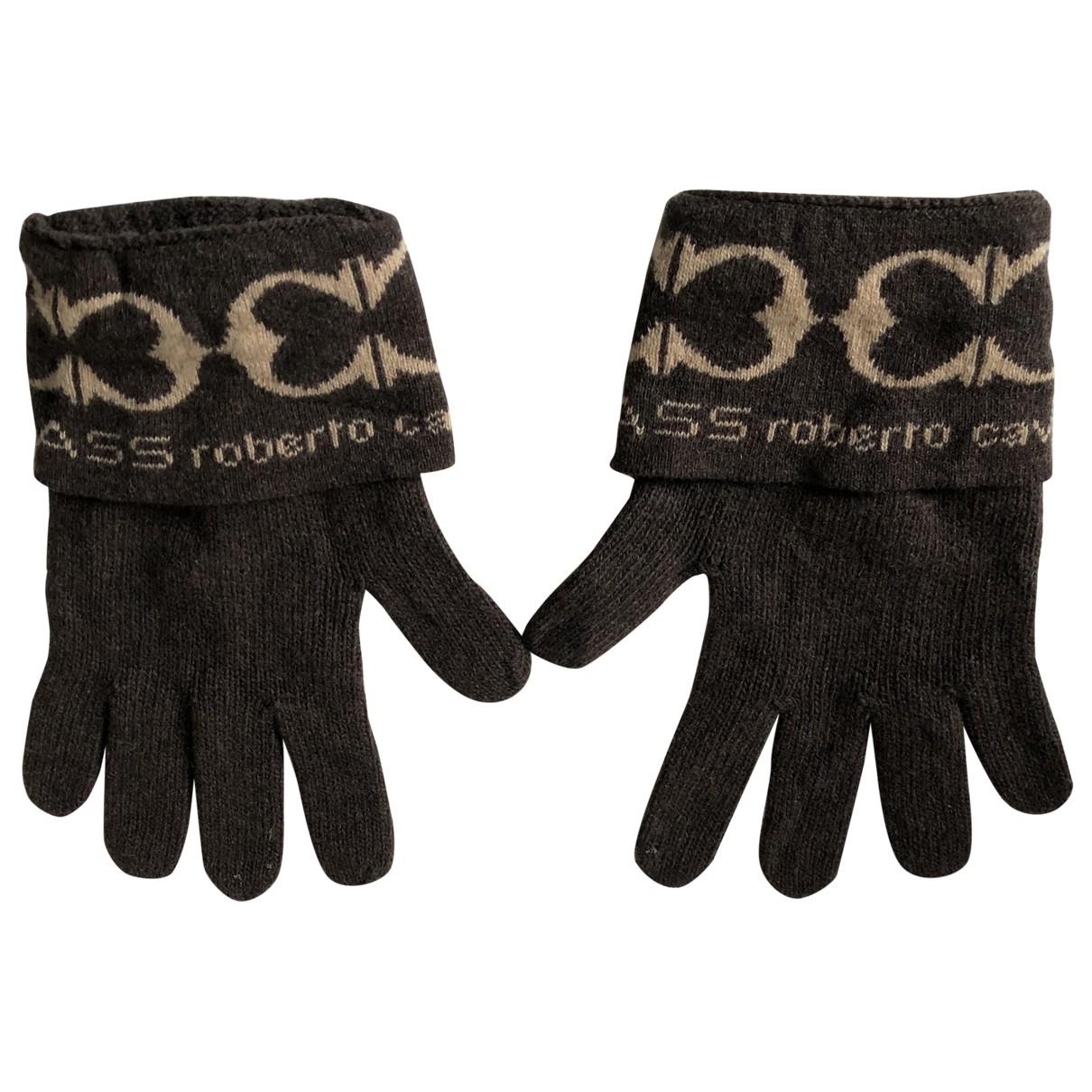 Roberto Cavalli \N Brown Wool Gloves for Men L International