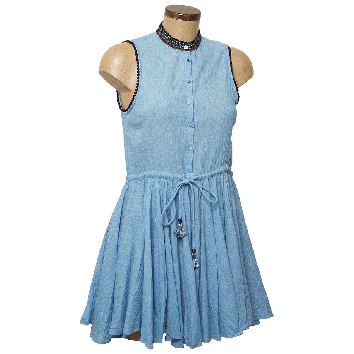 Zadig & Voltaire - Robe   pour femme en coton - bleu