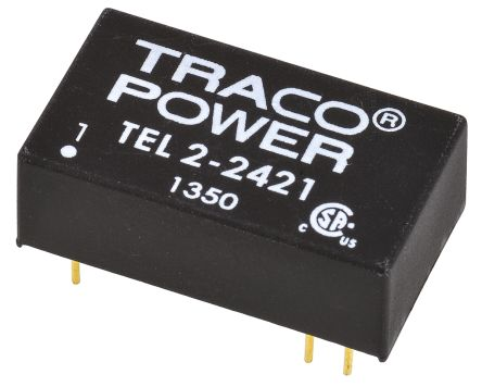 TRACOPOWER TEL 2 2W Isolated DC-DC Converter Through Hole, Voltage in 18 → 36 V dc, Voltage out ±5V dc