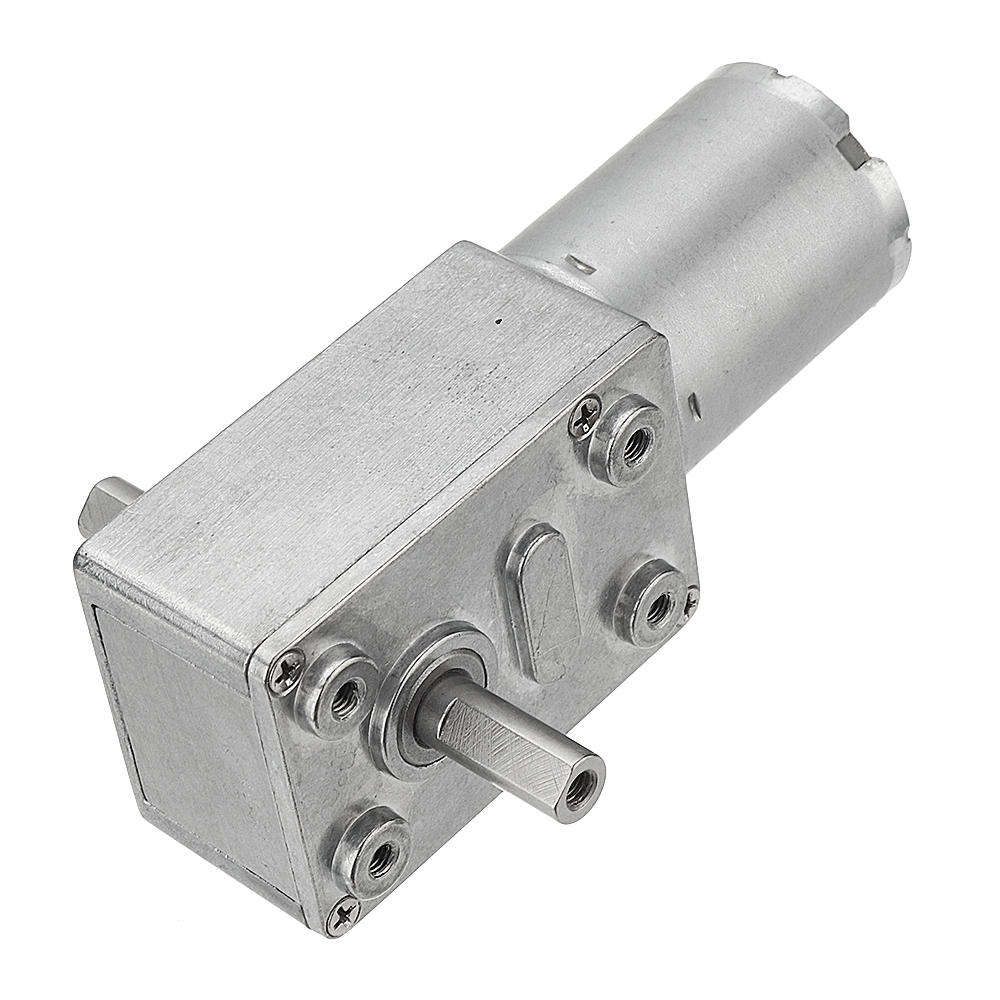 Machifit JGY-370 DC 6/12/24V 150RPM Double Shaft Worm Gear Motor Self-locking Reduction Gear Motor