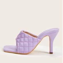 Violett  Einfarbig Pumps