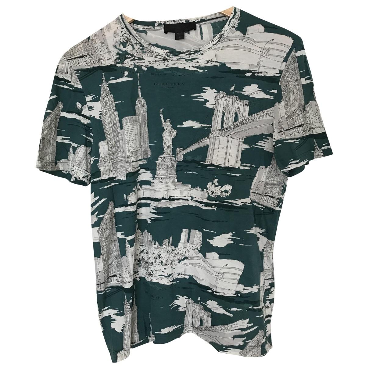 Burberry - Tee shirts   pour homme en coton - turquoise