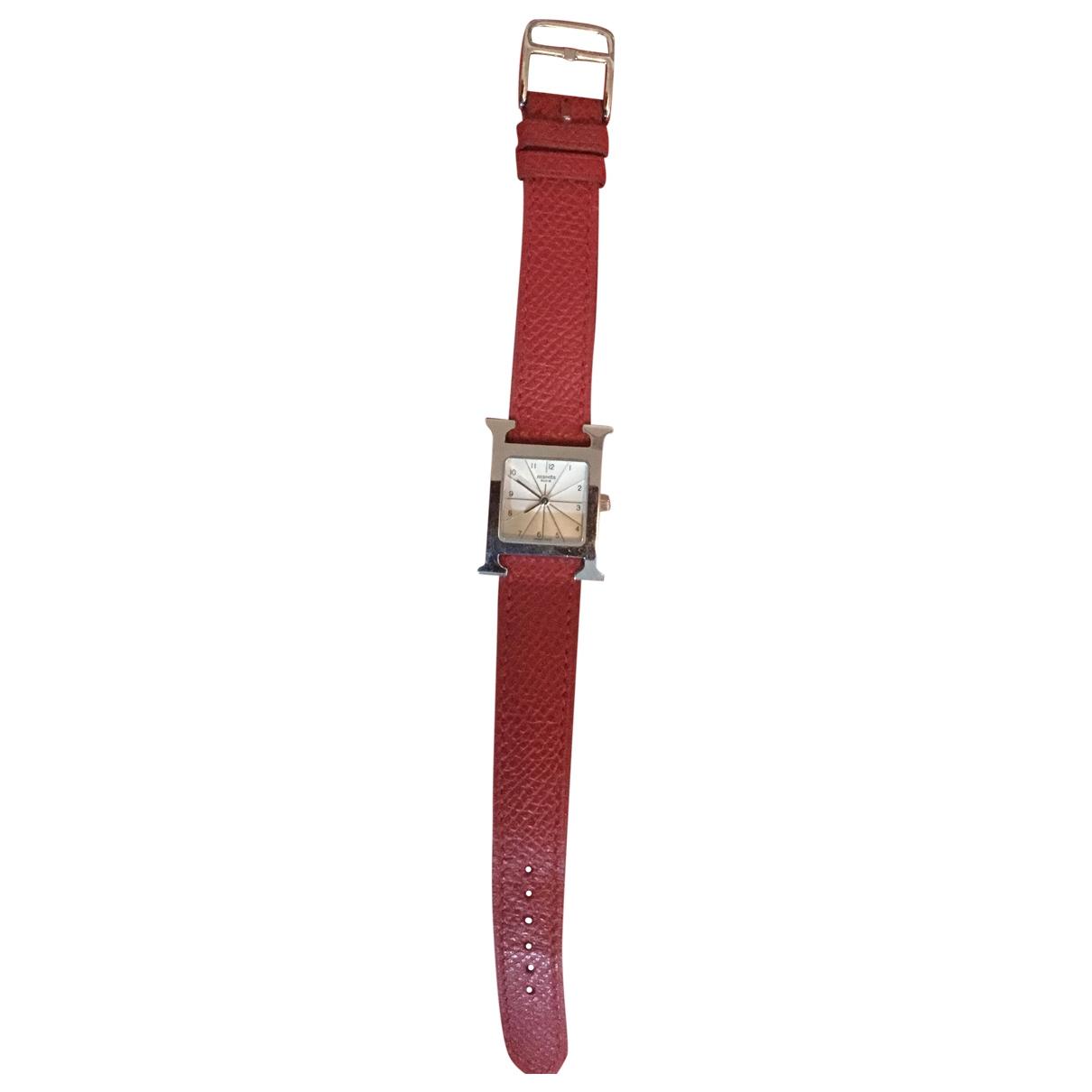Hermès Heure H Red Steel watch for Women \N