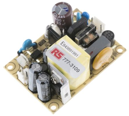 Mean Well , 15W Embedded Switch Mode Power Supply SMPS, 5V dc, Open Frame