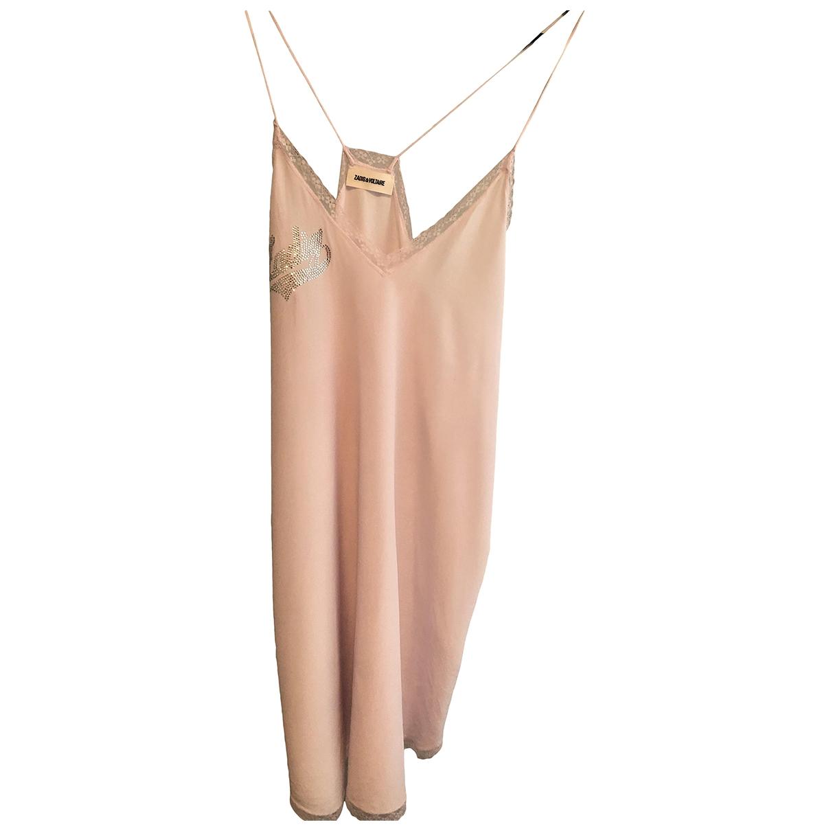 Zadig & Voltaire - Top   pour femme en soie - rose
