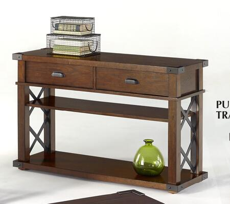 Landmark P527-05 48 Sofa/Console Table with 2 Drawers  2 Shelves and Stretchers in Vintage