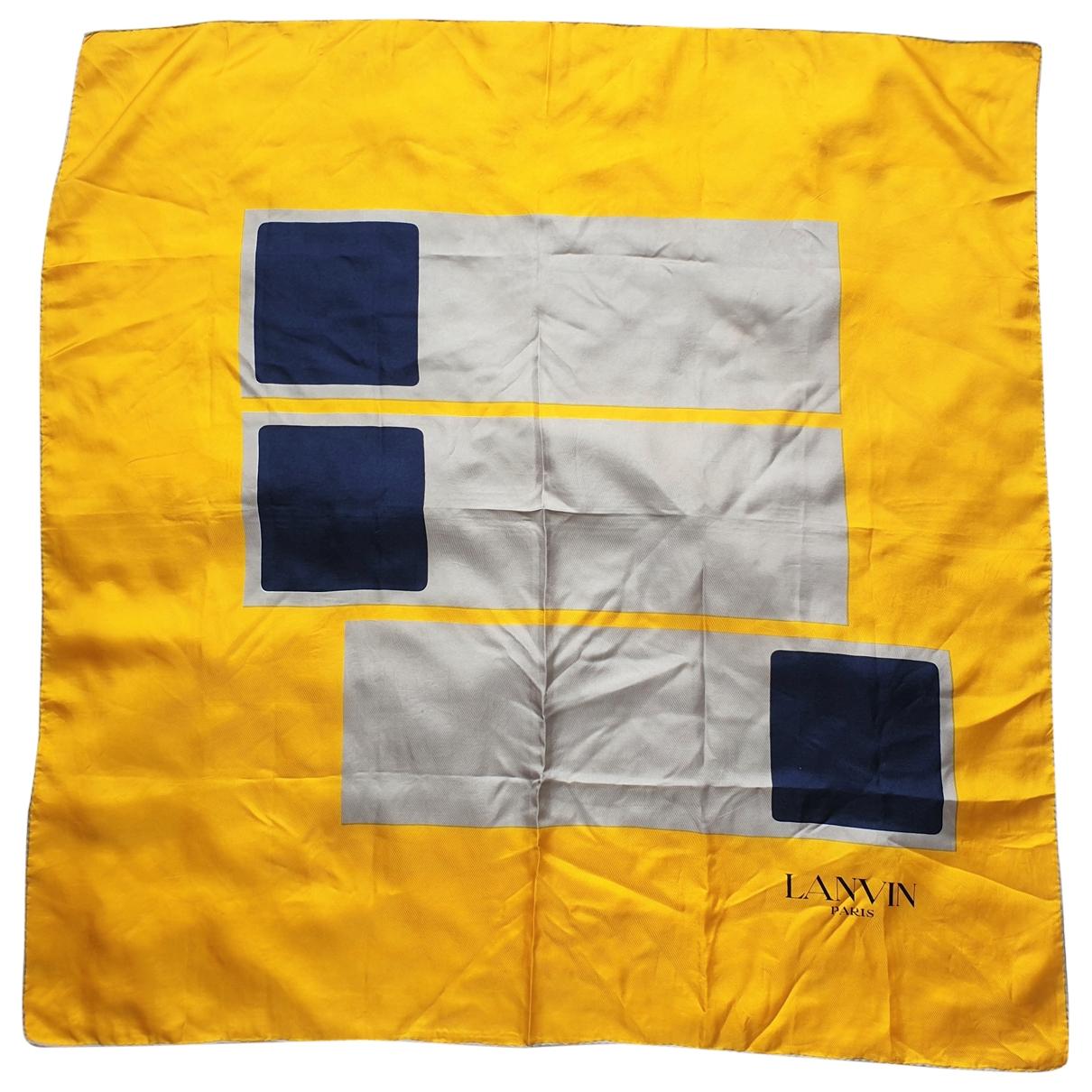 Lanvin \N Yellow Silk scarf for Women \N