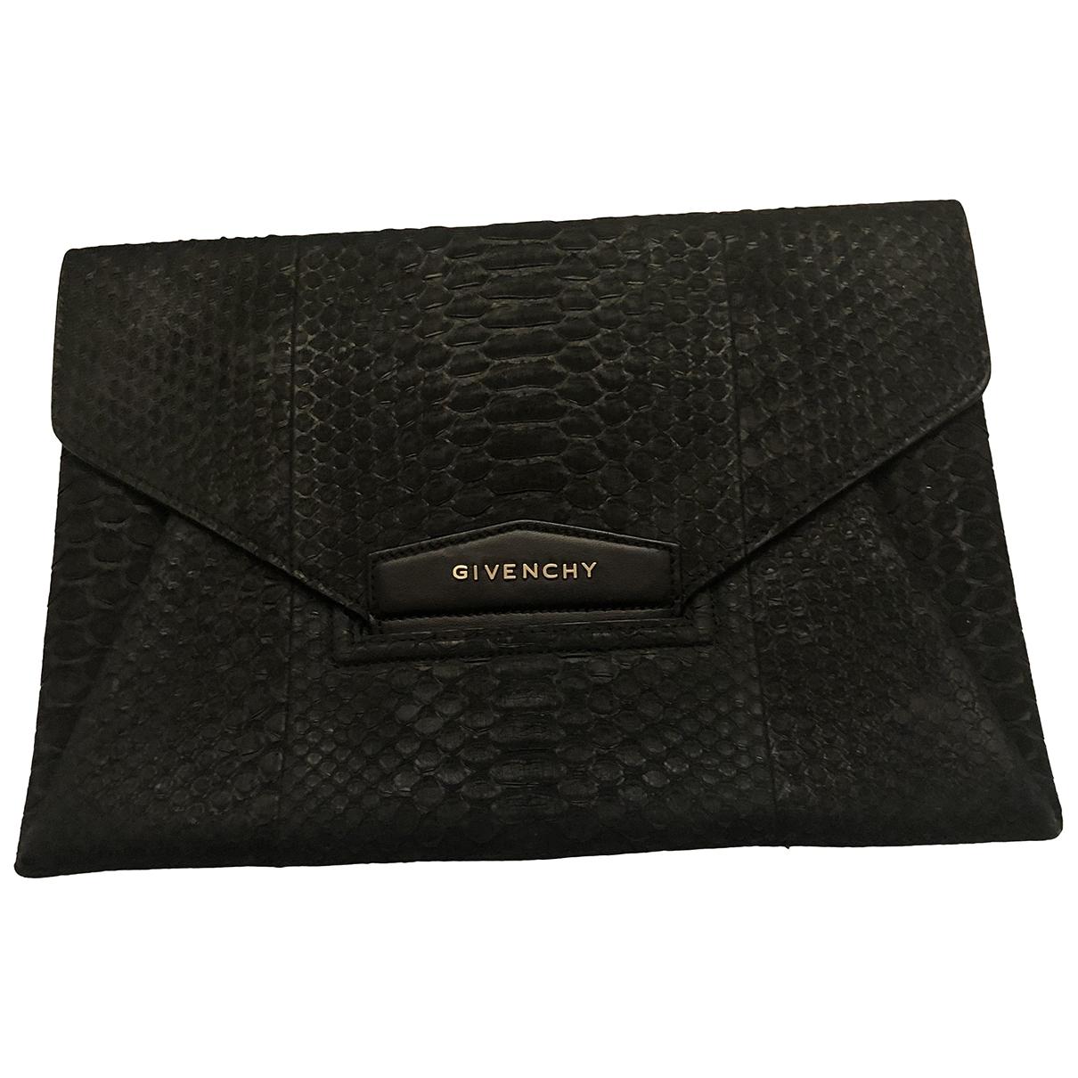 Givenchy - Pochette Antigona pour femme en python - noir