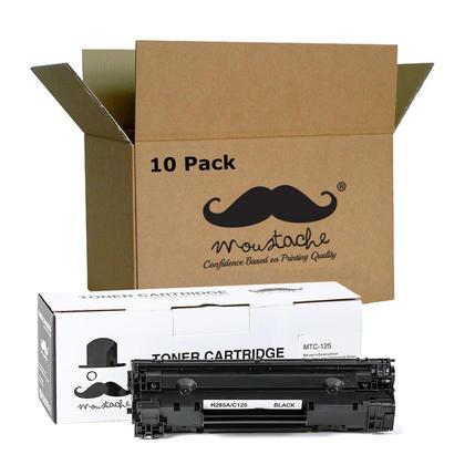 Compatible Canon 125 cartouche de toner noire (3484B001AA) - Moustache - 10/paquet