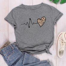 Camisetas Leopardo Casual