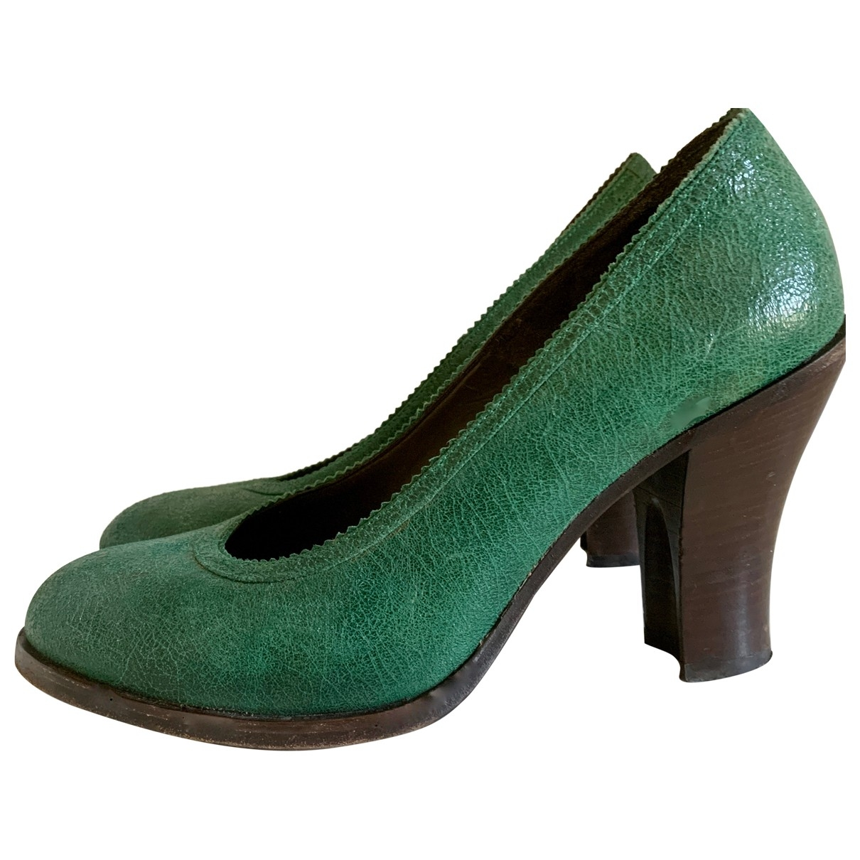Dries Van Noten \N Pumps in  Gruen Leder
