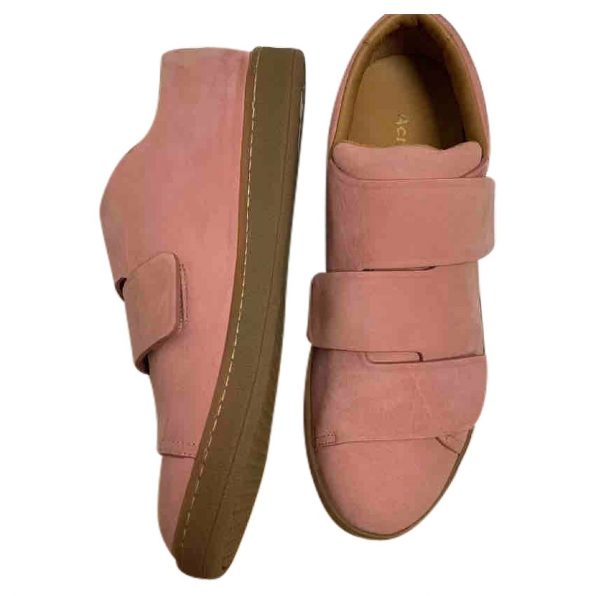 Acne Studios \N Pink Suede Trainers for Women 38 EU
