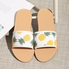 Toddler Girls Pineapple Graphic Slides