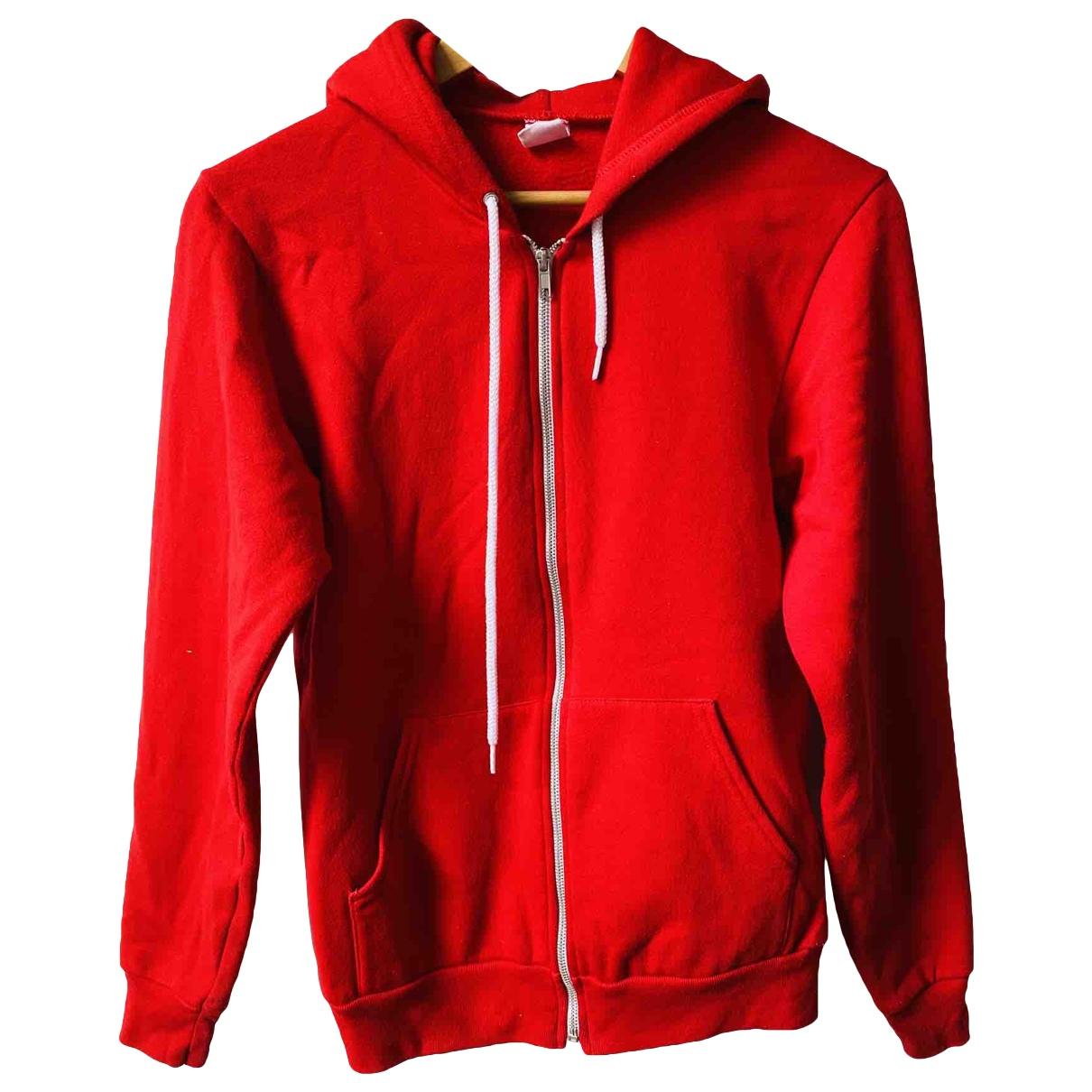 American Apparel - Pulls.Gilets.Sweats   pour homme en coton - rouge