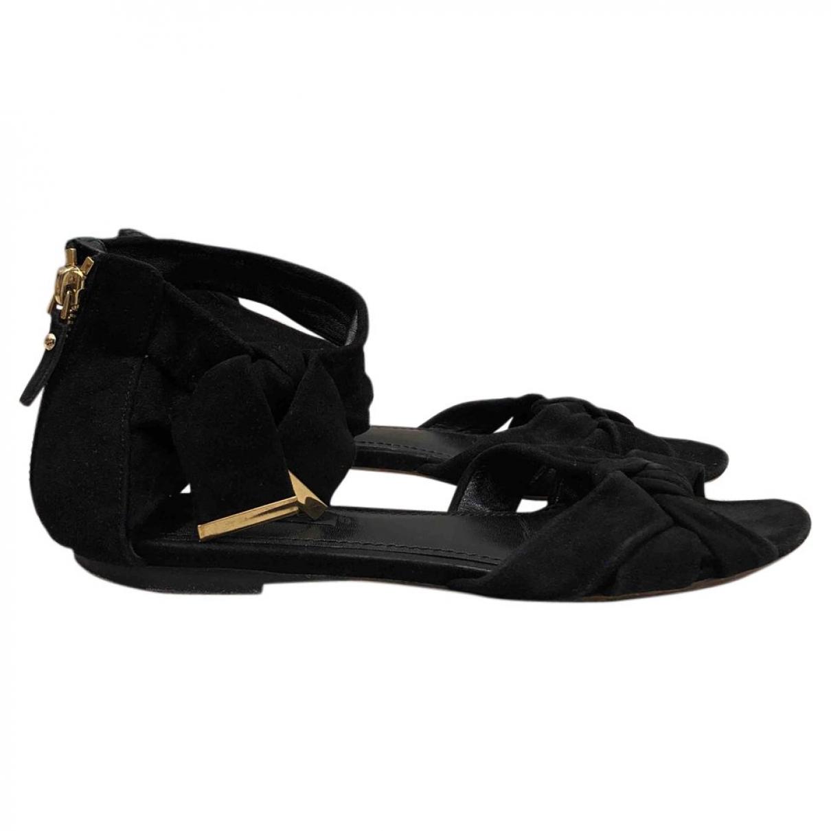 Louis Vuitton \N Black Suede Sandals for Women 37 EU