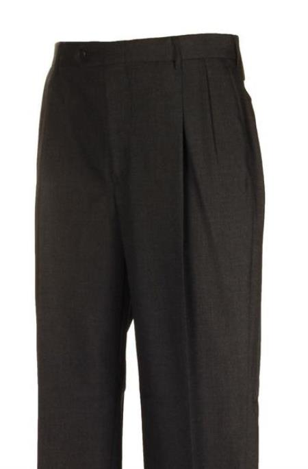 American USA Made Harwick Clothing Charcoal Pleated Dress Pants