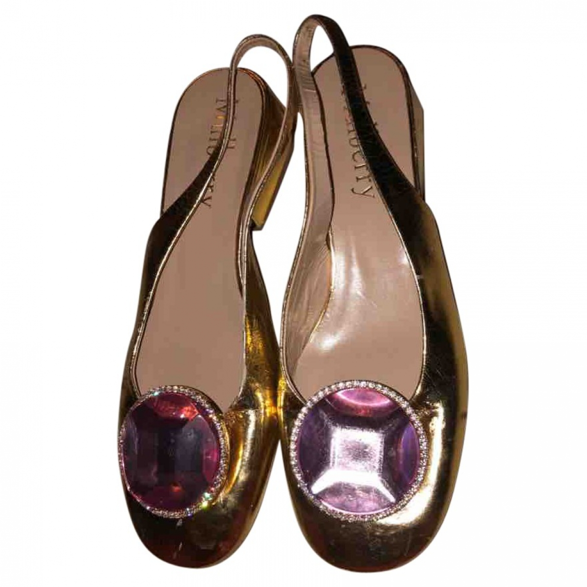 Mulberry \N Gold Patent leather Sandals for Women 39 EU