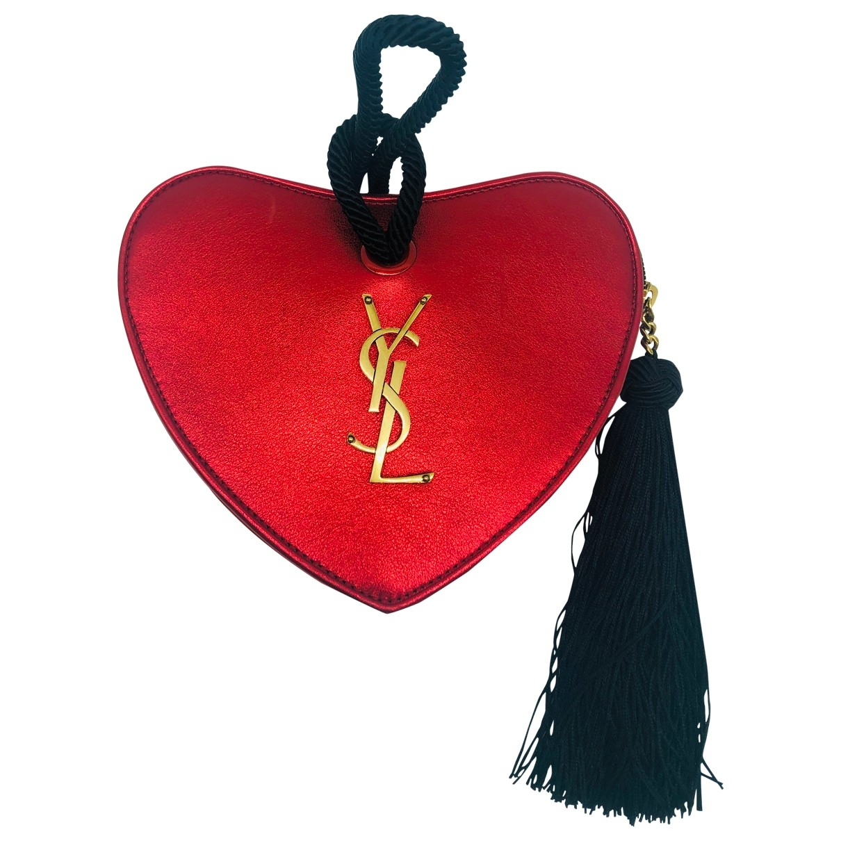 Yves Saint Laurent \N Clutch in  Rot Leder