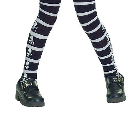 Childrens Skull And Bones Tights, Large , Multiple Colors
