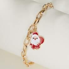 Weihnachten Armband mit Weihnachtsmann Anhaenger