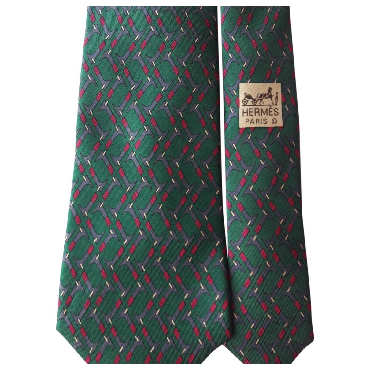 Hermes - Cravates   pour homme en soie - vert