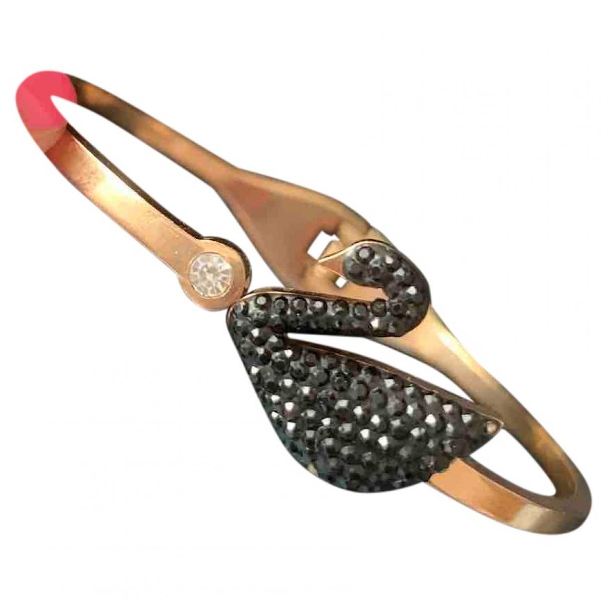 Swarovski - Bracelet   pour femme en or rose - noir
