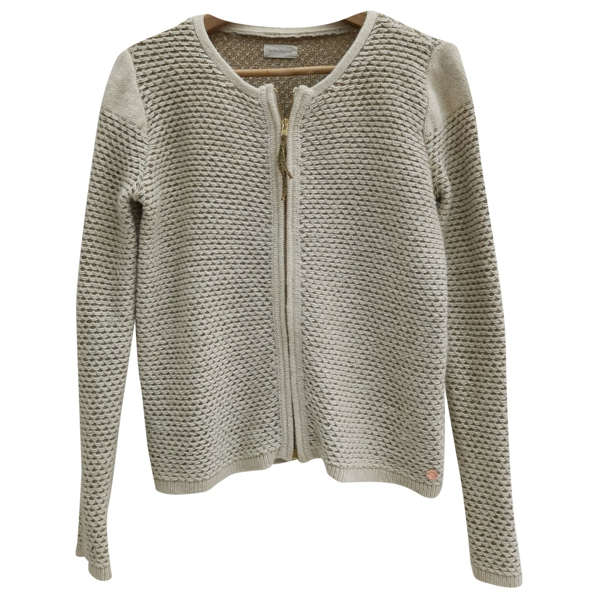 Harry Wilson \N Pullover in  Ecru Polyester