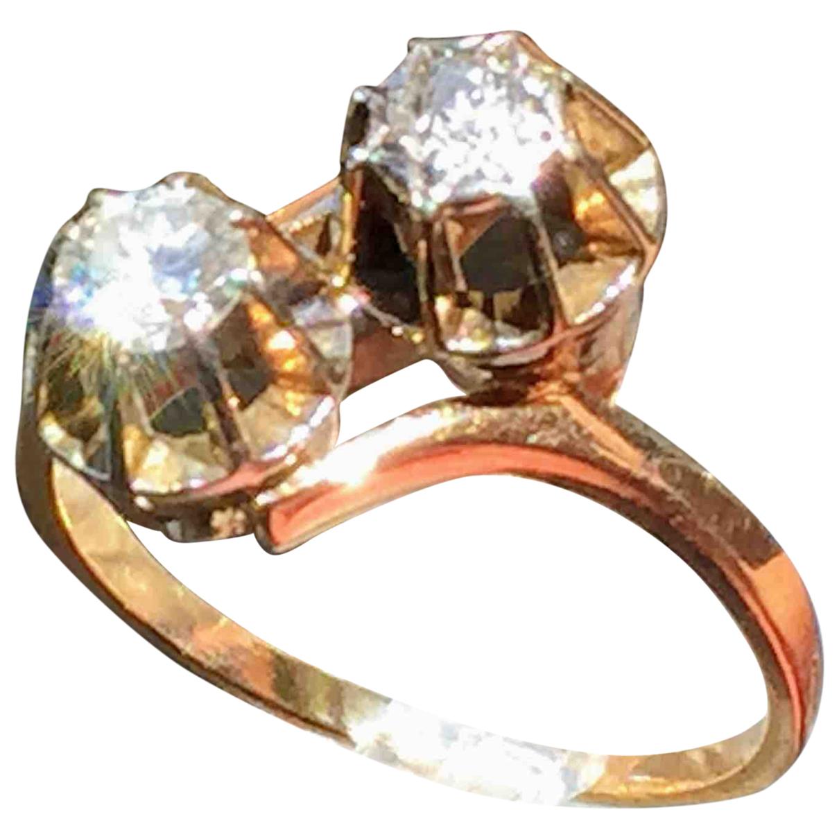 - Bague Toi & Moi pour femme en or jaune - dore