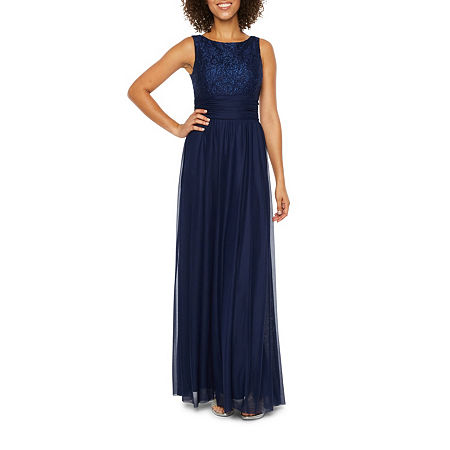 Jessica Howard Sleeveless Evening Gown, 14 , Blue