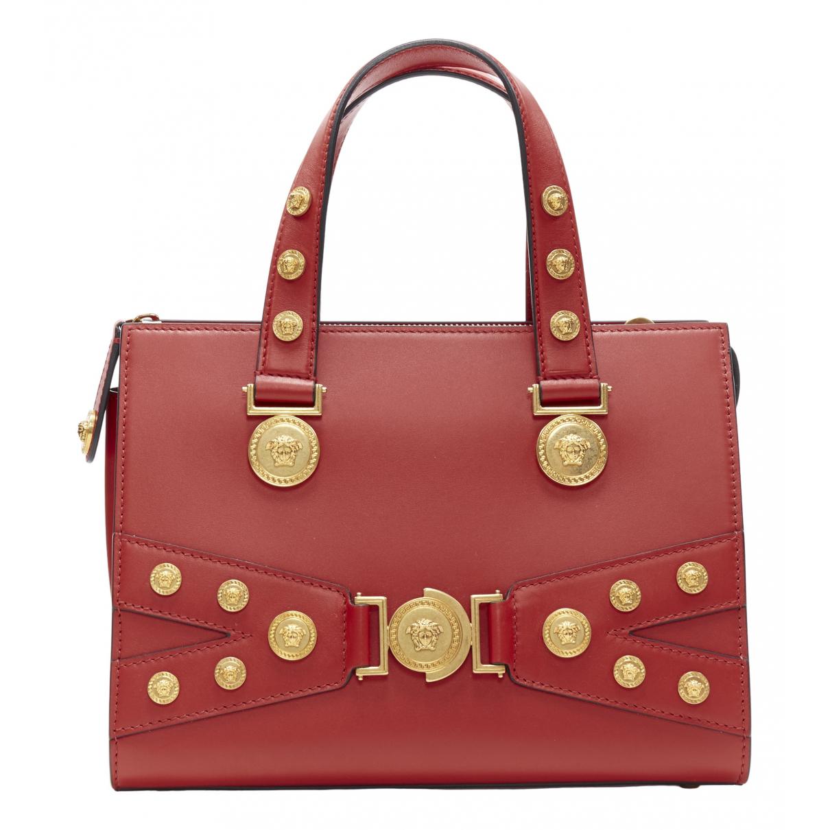 Versace \N Handtasche in  Rot Leder