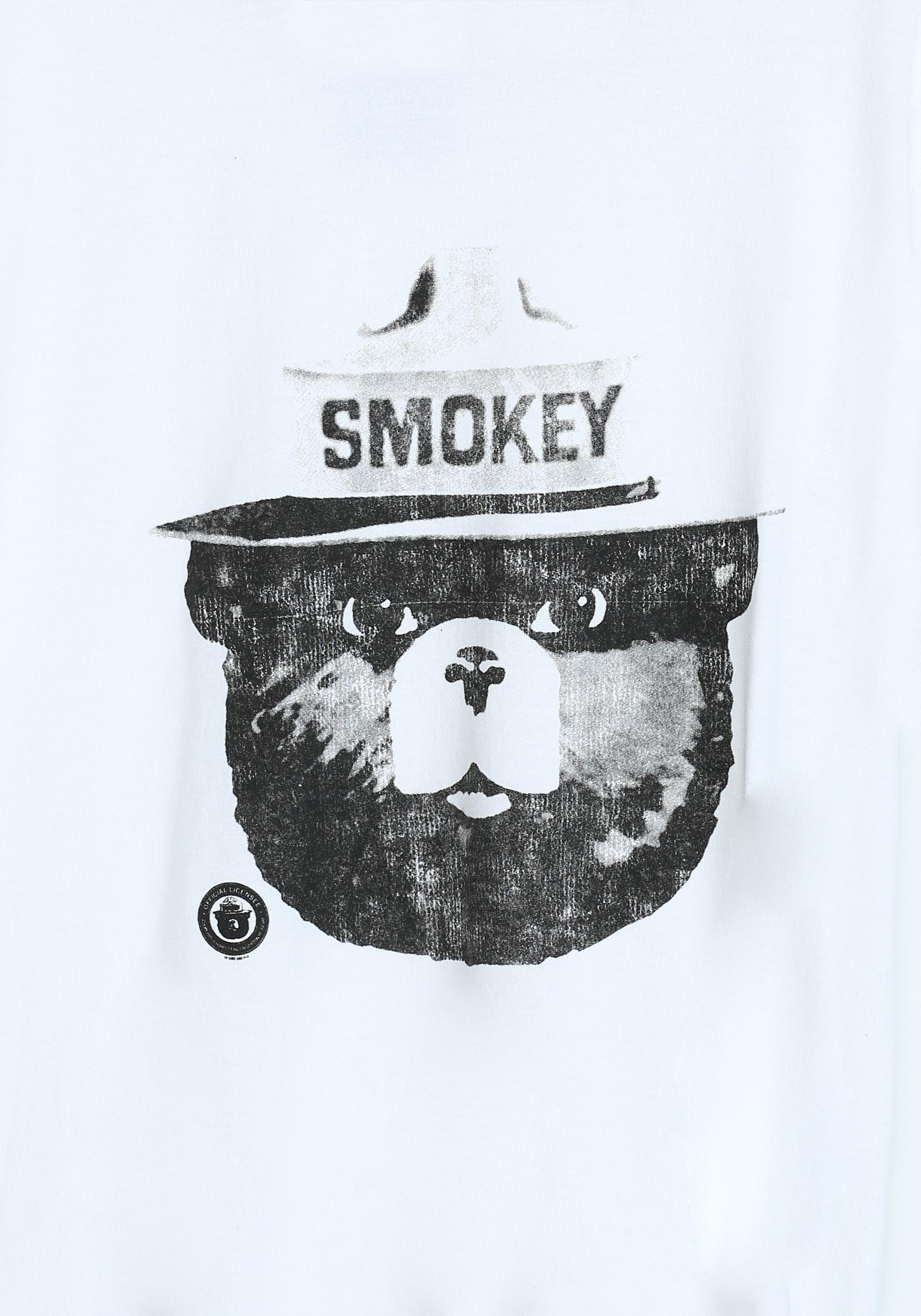 Smokey the Bear Black & White Men's Ringer T-Shirt