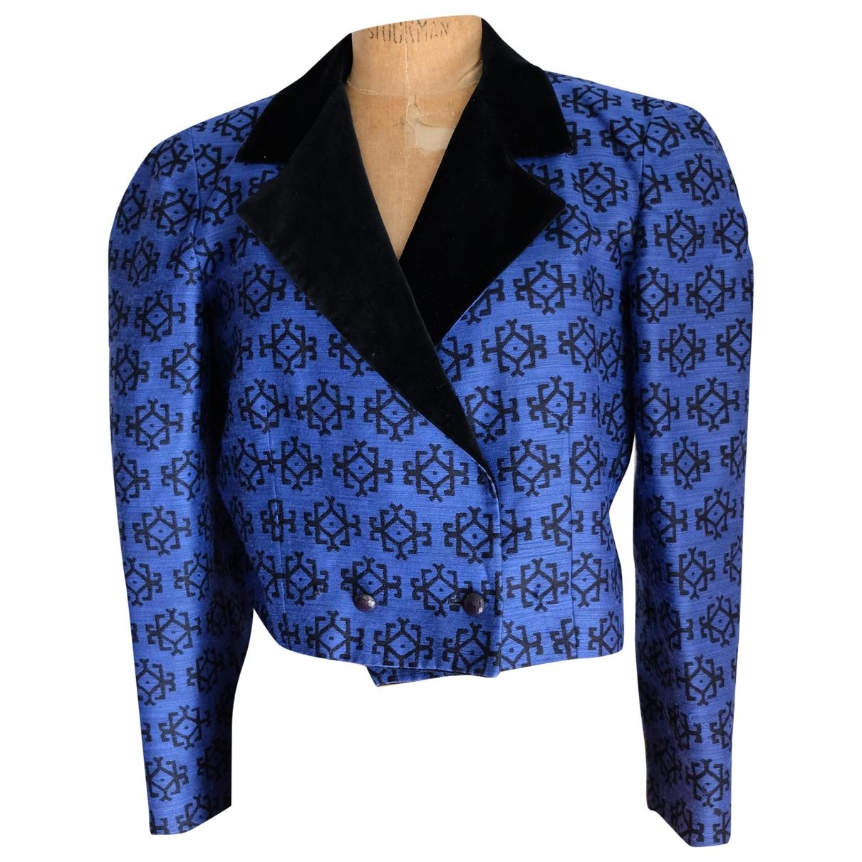 Guy Laroche - Veste   pour femme en laine - bleu