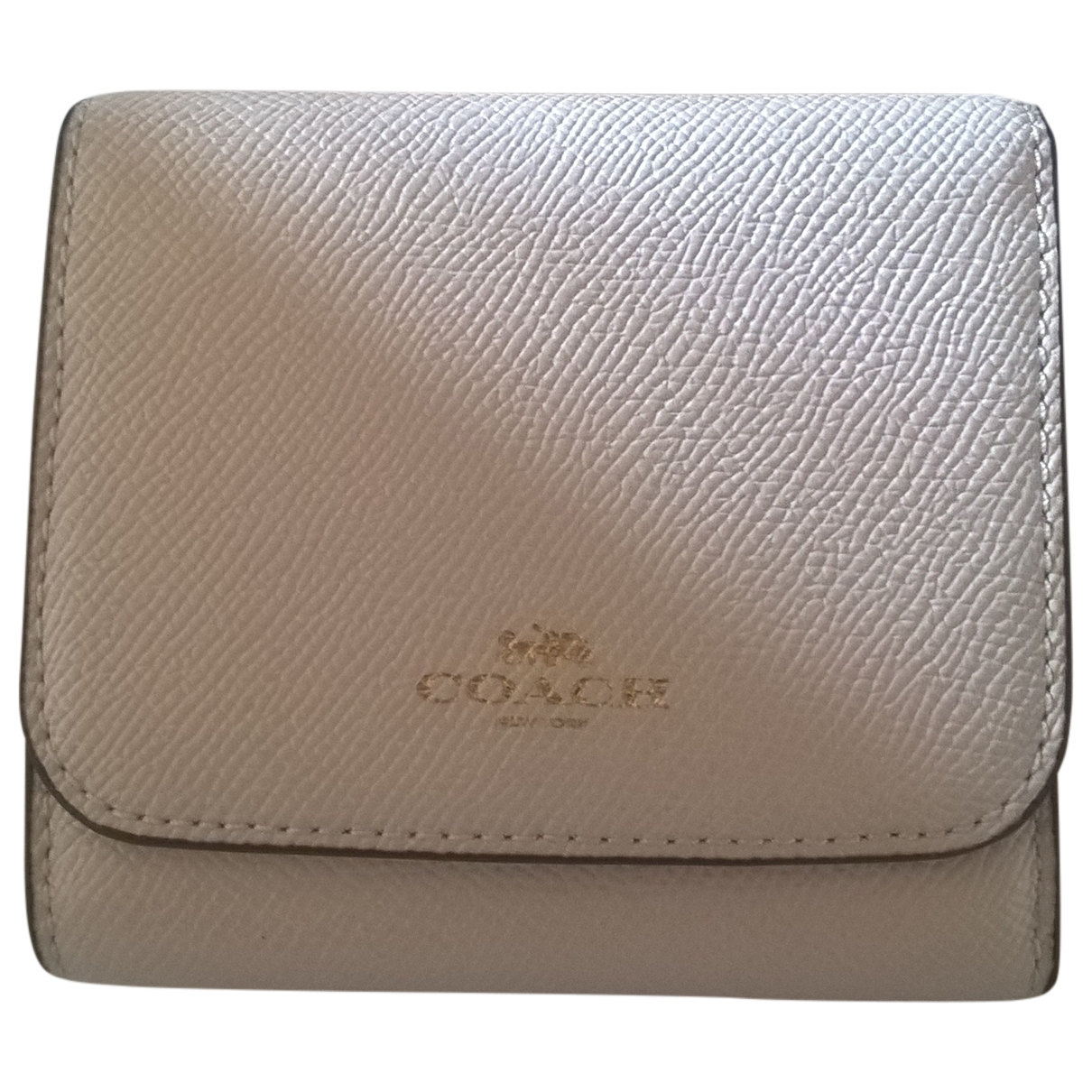Coach \N Beige Leather wallet for Women \N