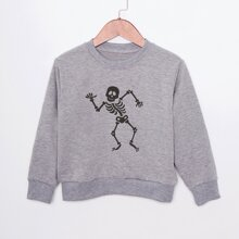 Sudadera con estampado de esqueleto