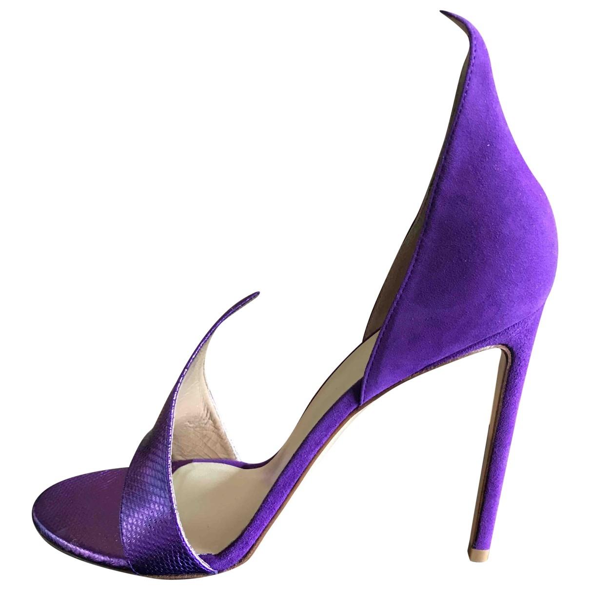 Francesco Russo - Escarpins   pour femme en cuir verni - violet