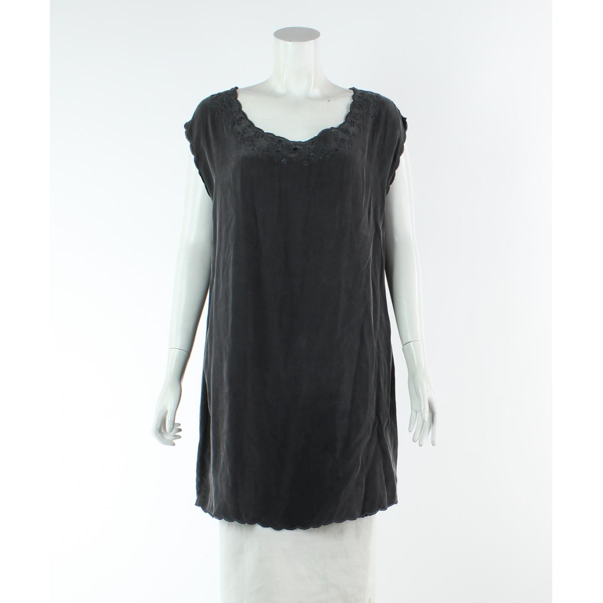 The Kooples - Robe   pour femme en soie - gris
