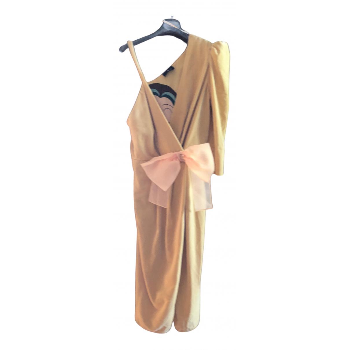 Elisabetta Franchi \N Kleid in  Gelb Polyester