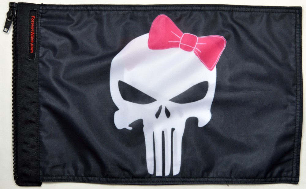 Forever Wave 5269 Punisher Pink Ribbon Flag