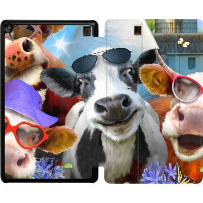 Amazon Fire HD 8 (2017) Tablet Smart Case - Udderly Cool Selfie von Howard Robinson