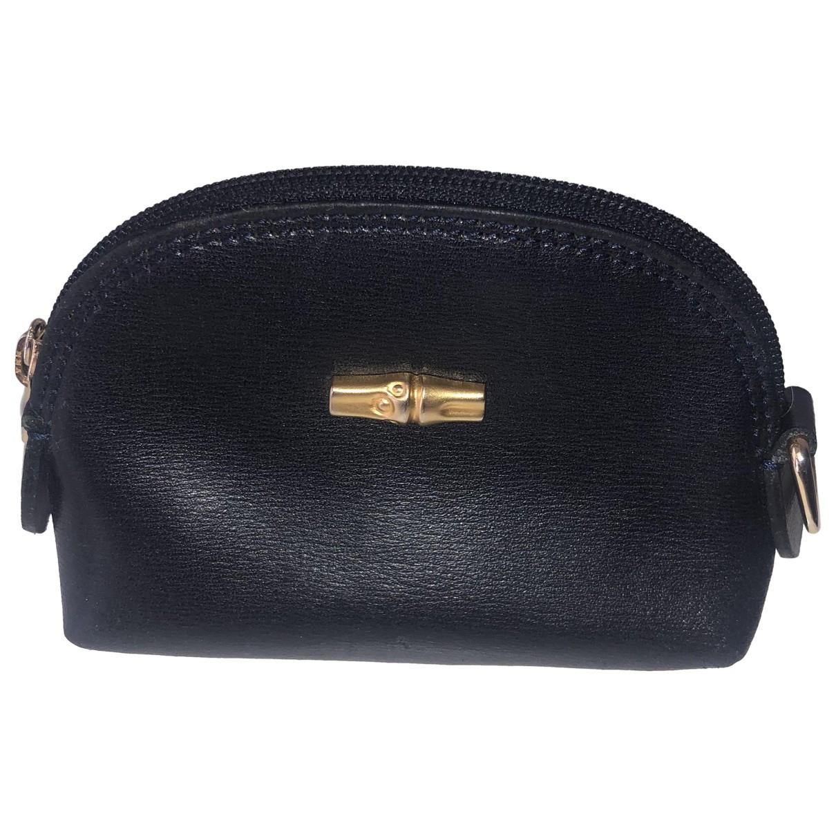 Longchamp - Portefeuille Roseau pour femme en cuir - marine